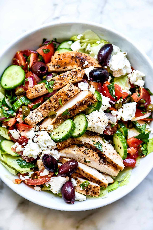 Whole30 Mediterranean Grilled Chicken Salad Lunch