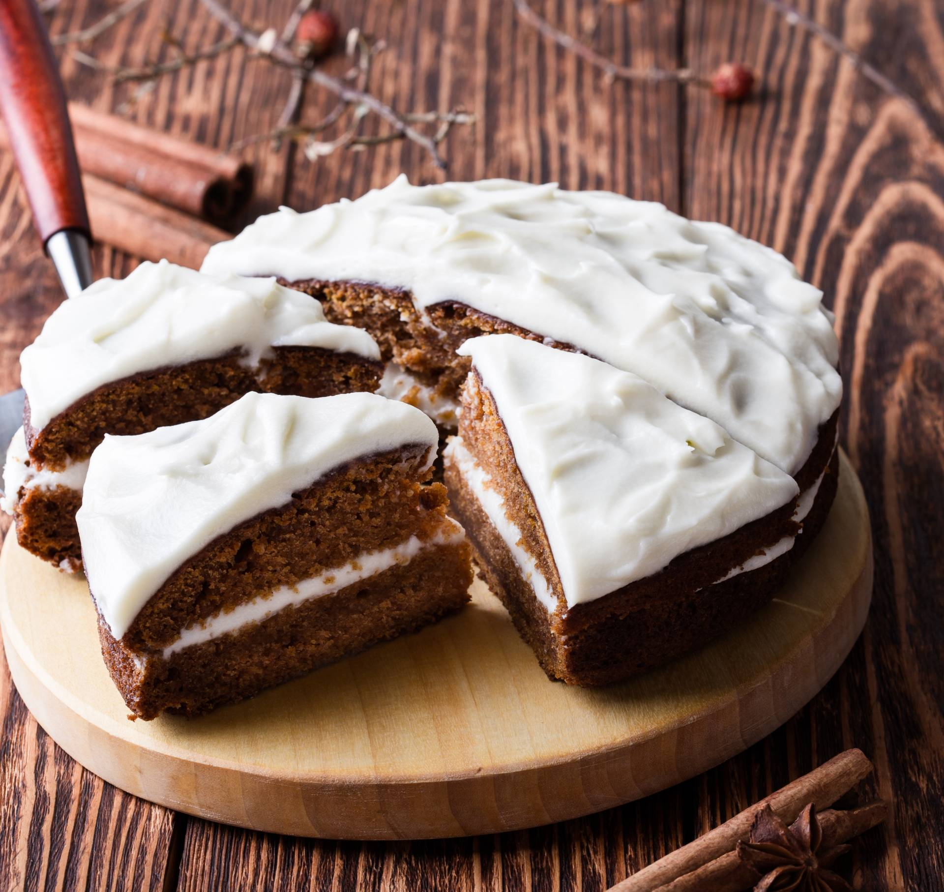 Spice Cake with Orange Buttercream Frosting